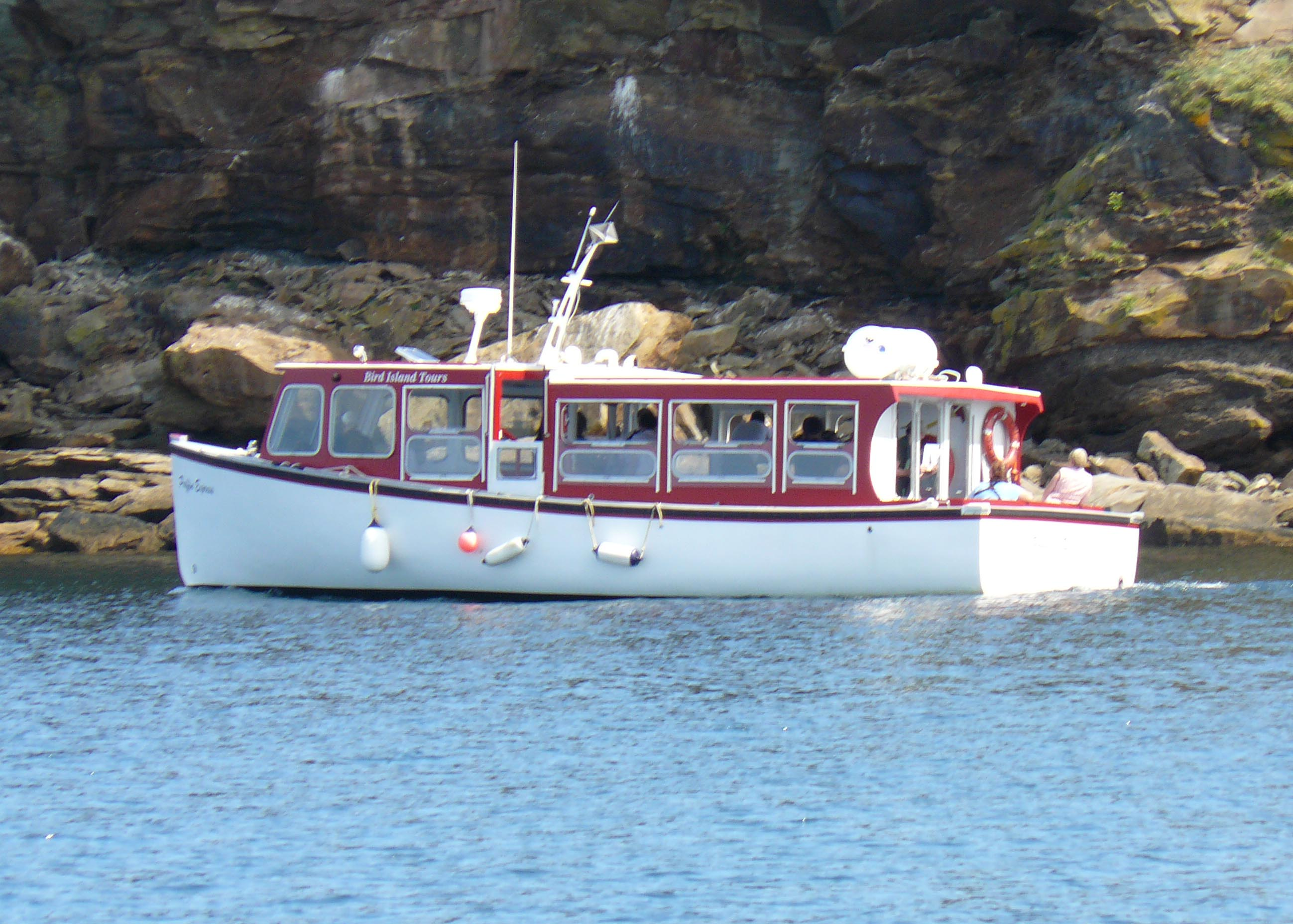 Our boat, the Puffin Express
