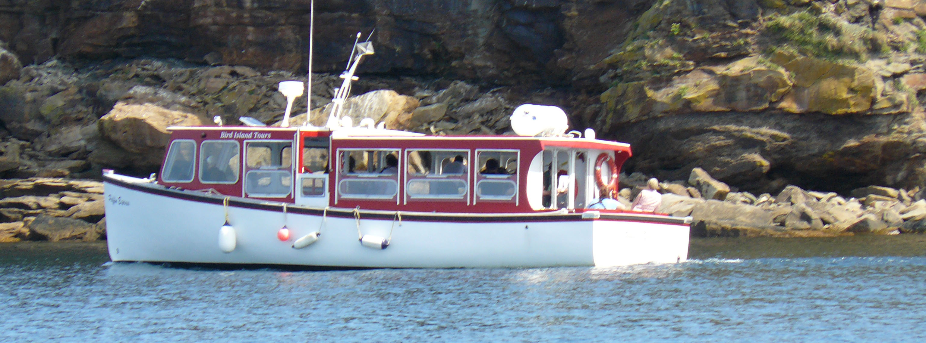 Our boat, the Puffin Express at the islands