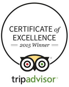 Certificate of Excellance awarded to Bird Island Boat Tours - 2015